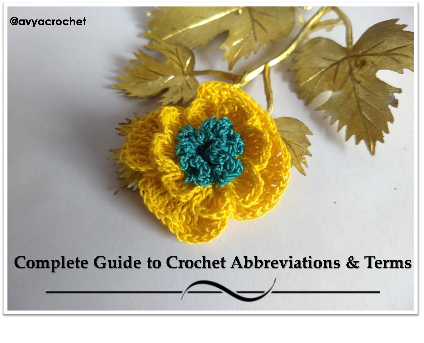 Complete Guide to Crochet Abbreviations & Terms