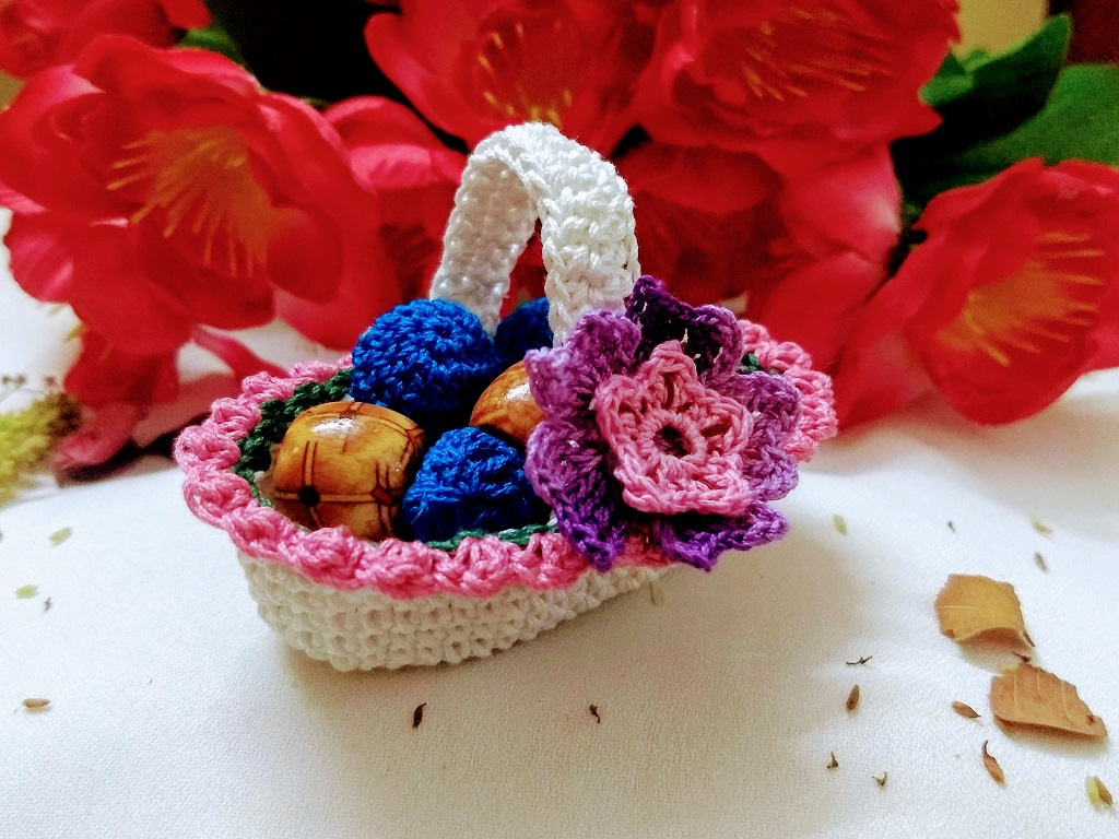 Mini Crochet Basket Avyastore