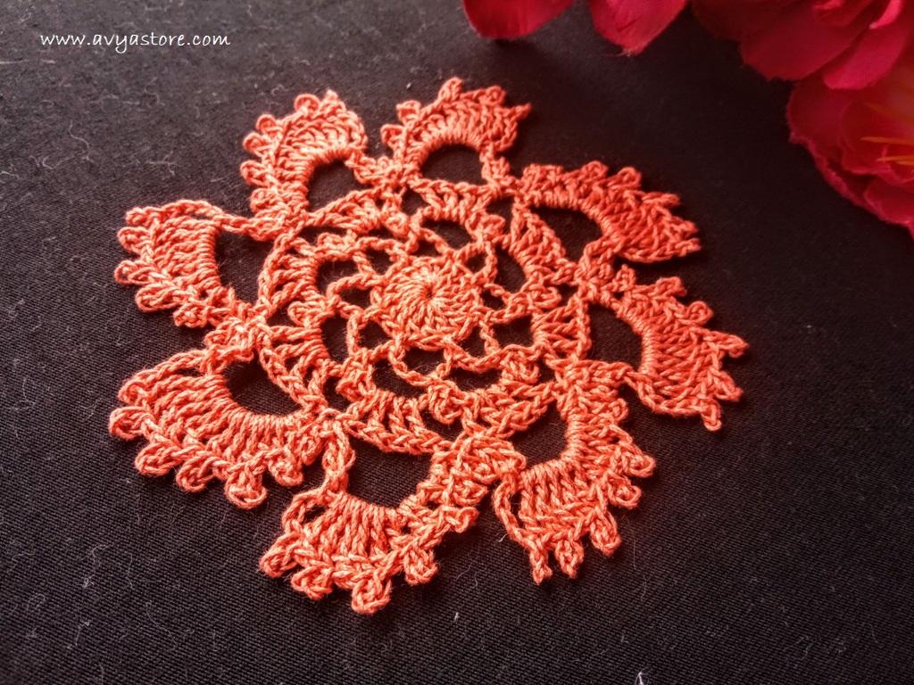 Crochet Spiral Motif
