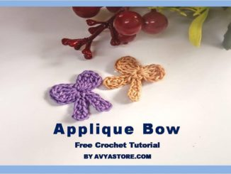 Applique Bow – Free Crochet Tutorial by Avyastore.com