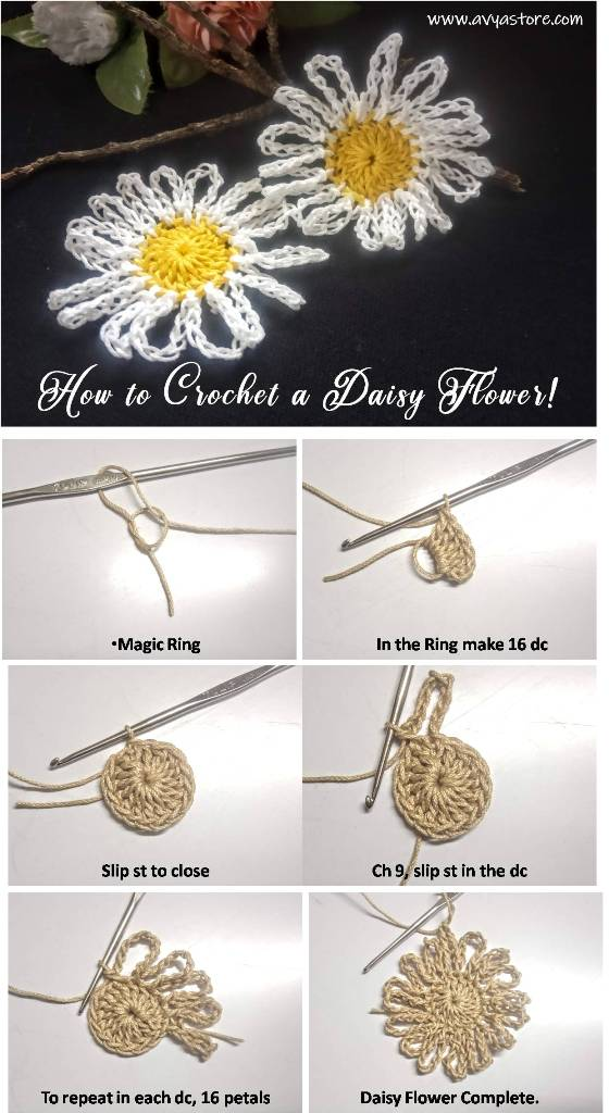 How-to-Crochet-a-Daisy-Flower-and-an-Octagon-Daisy-Motif-1