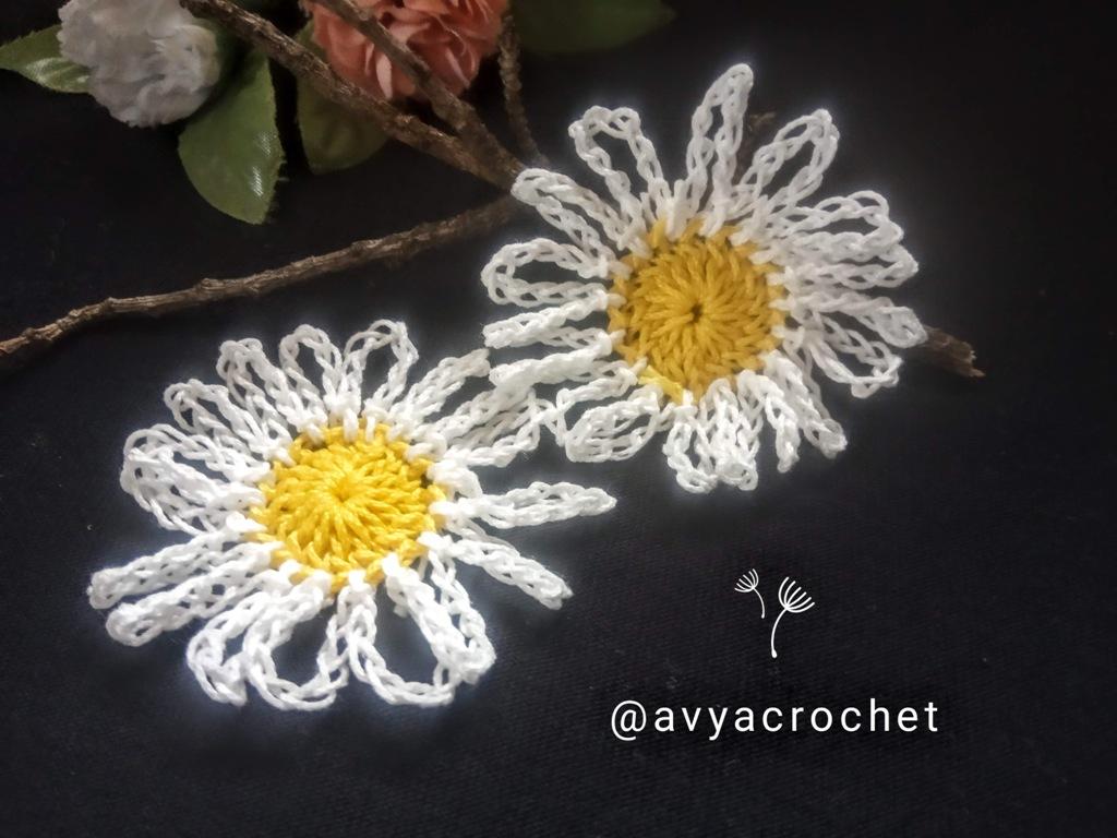 How to Crochet a Daisy Flower and an Octagon Daisy Motif (2)