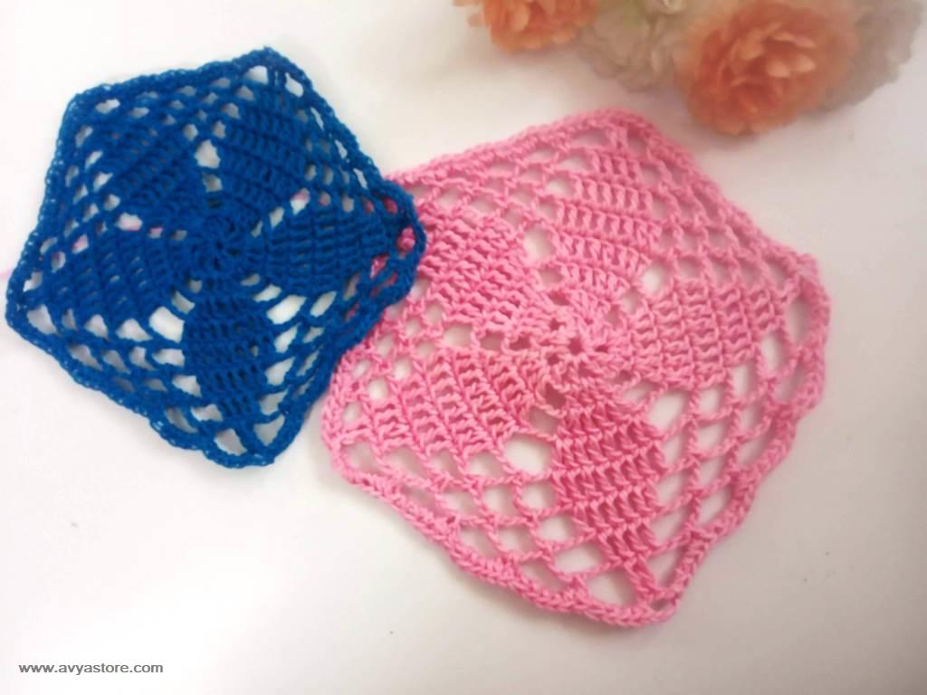 Pentagon Crochet Motif_Avya (3)