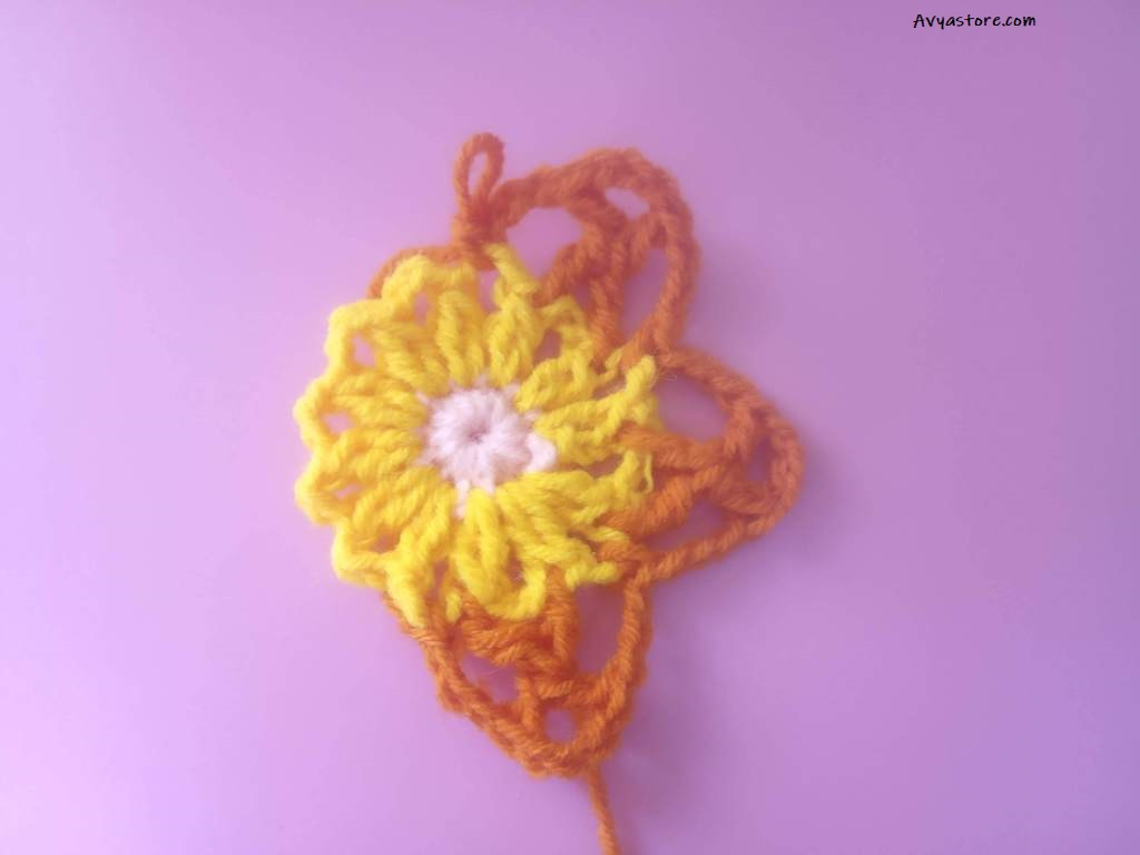 How to Crochet Acacia flowers Granny Square - Free Pattern