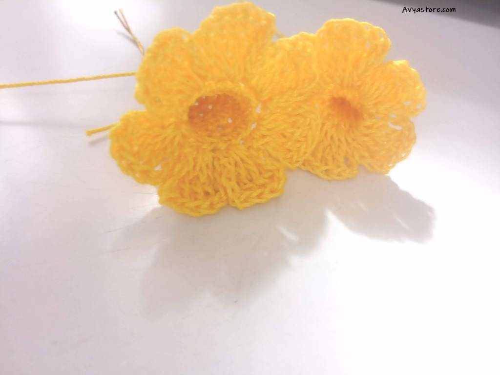 How to crochet Yellow Bellflowers - Free Pattern