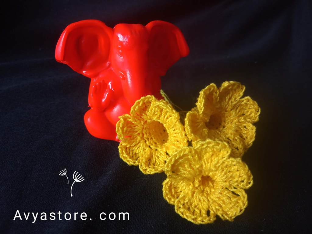 How to crochet Yellow Bellflowers – Free Pattern_Avya_20112020 (21)