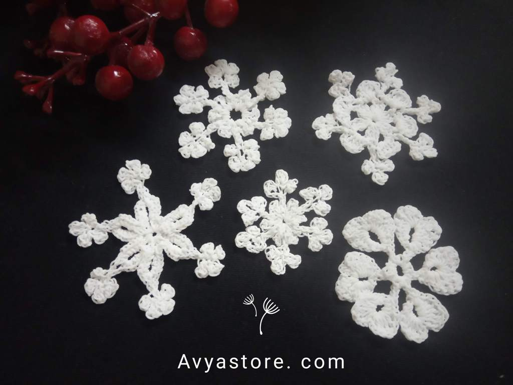 How to make five easy crochet snowflakes – Free Patterns_Avyastore27112020 (1)