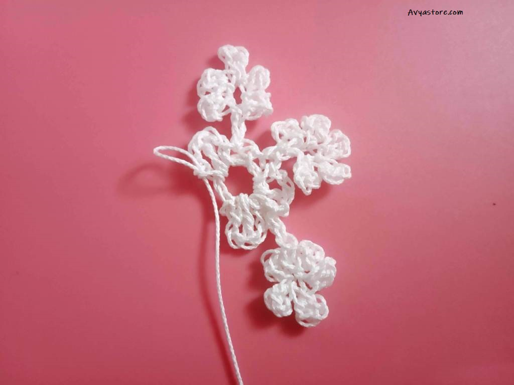 How to make five easy crochet snowflakes – Free Patterns