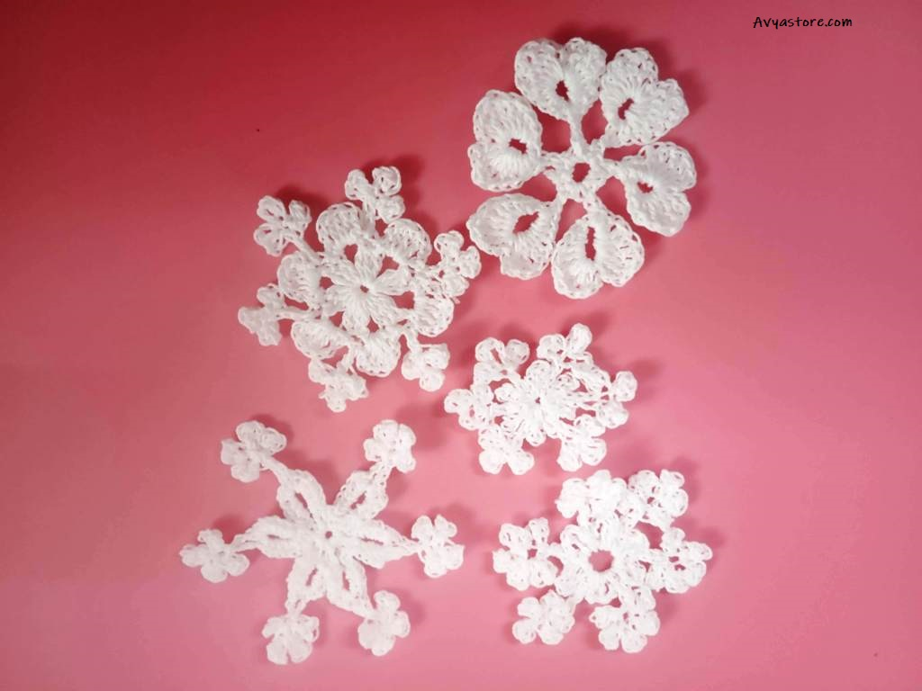 How to make five easy crochet snowflakes – Free Patterns_Avyastore27112020 (25)