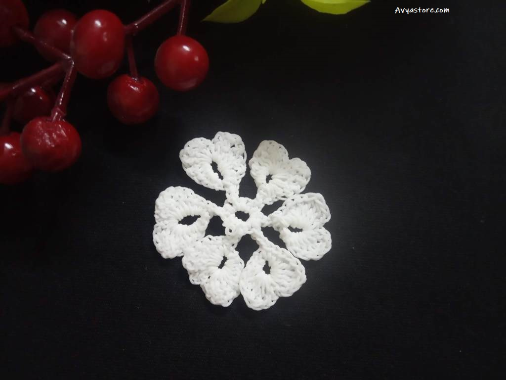 How to make five easy crochet snowflakes – Free Patterns_Avyastore27112020 (26)