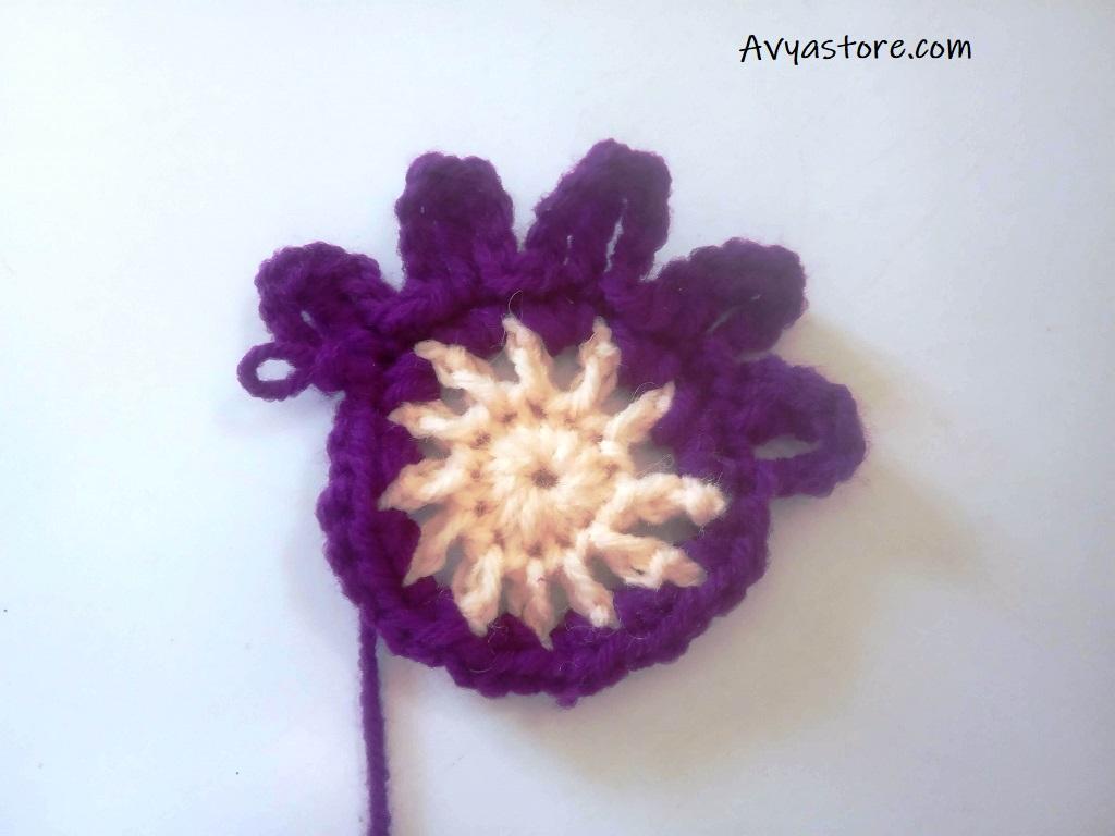 Cineraria Granny Square – Crochet Free Pattern (11)