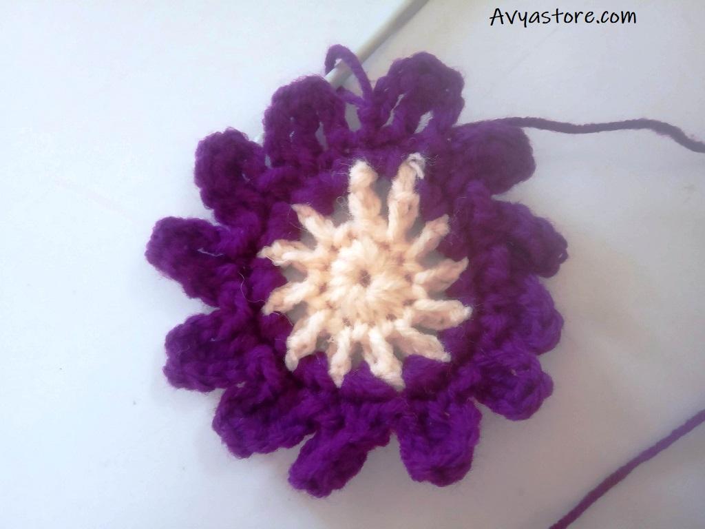 Cineraria Granny Square – Crochet Free Pattern (12)