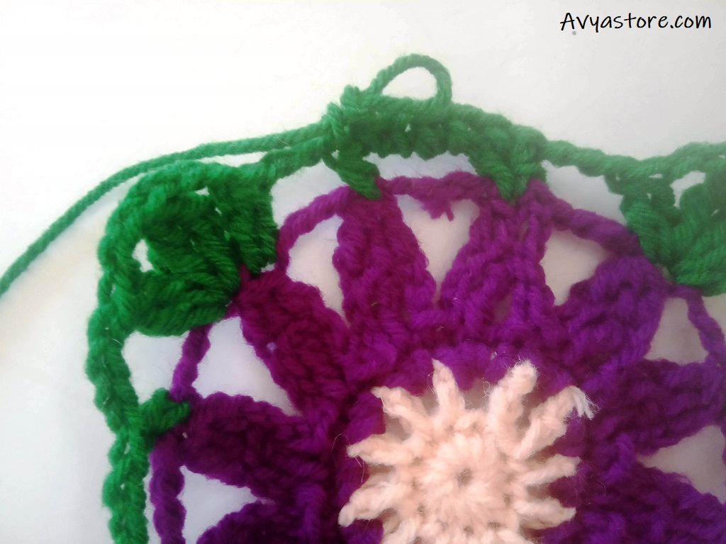 Cineraria Granny Square – Crochet Free Pattern (20)