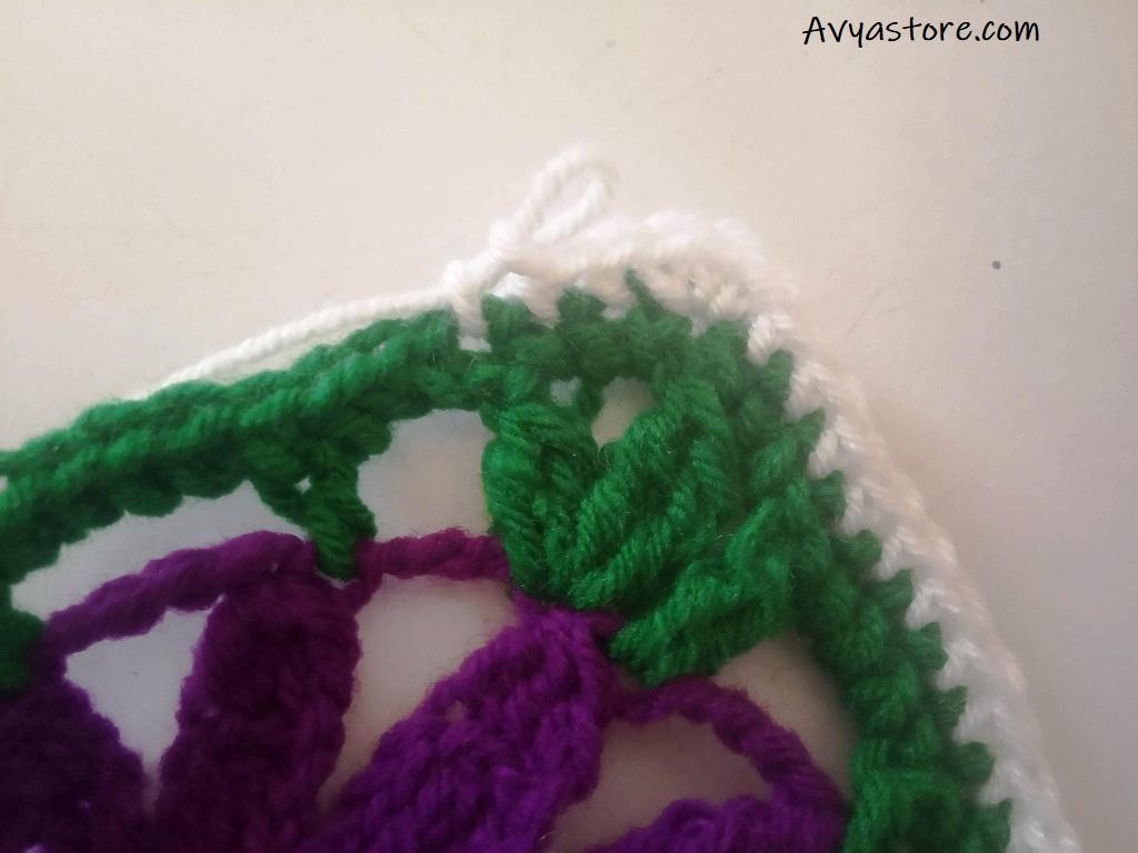 Cineraria Granny Square – Crochet Free Pattern (24)