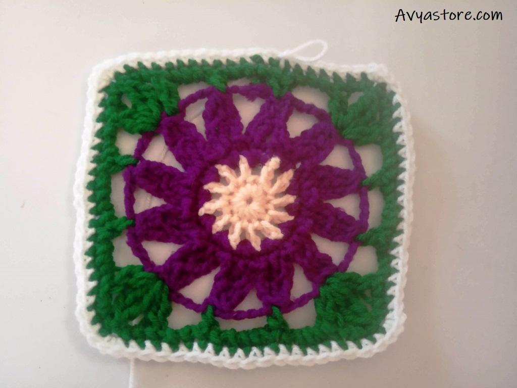 Cineraria Granny Square – Crochet Free Pattern (26)