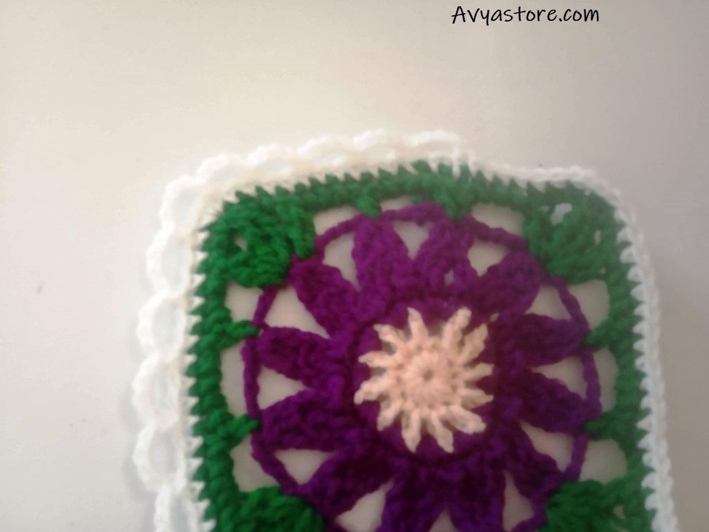Cineraria Granny Square – Crochet Free Pattern (28)