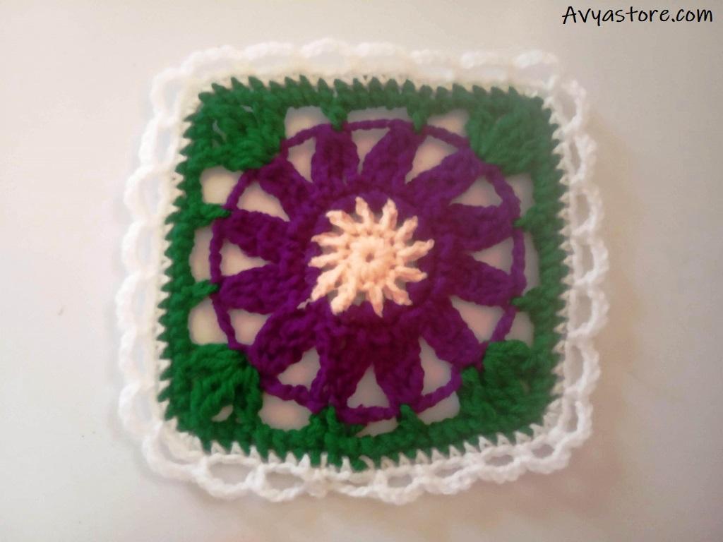 Cineraria Granny Square – Crochet Free Pattern (29)