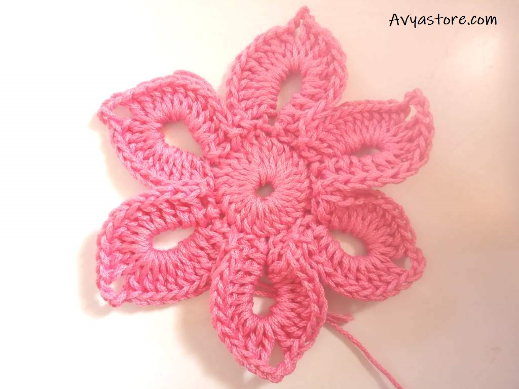 Crochet Flower Brooch -Free Pattern (12)