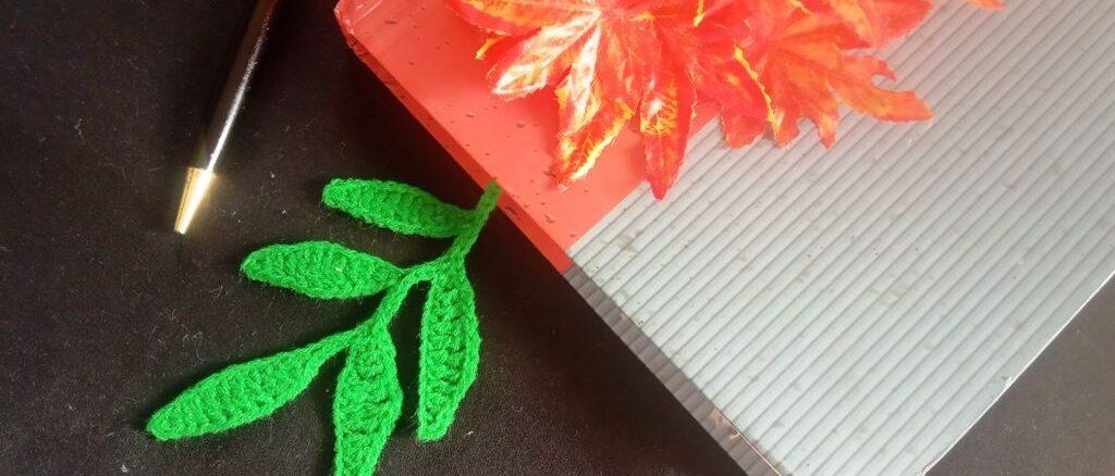 Crochet Leaves Bookmark - Free Pattern