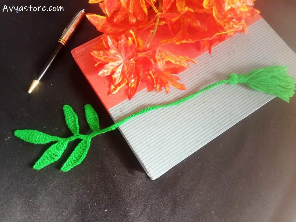 Crochet Leaves Bookmark – Free Pattern (14)