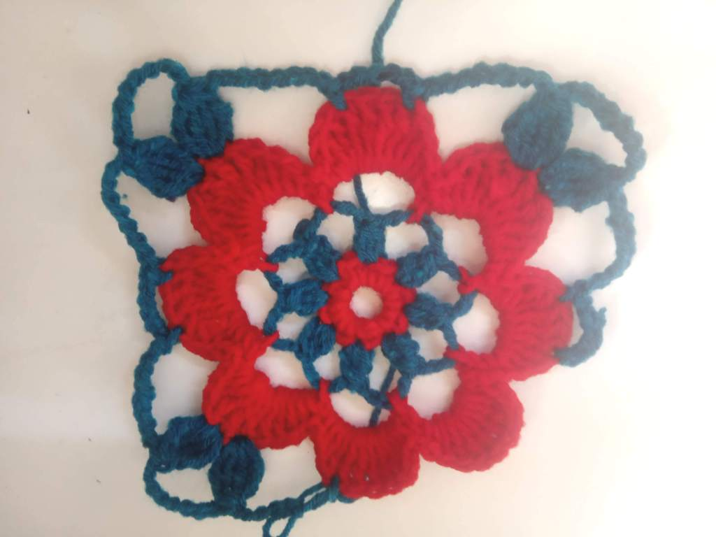 How to Crochet Tricolor Placemat – Free Pattern (14)
