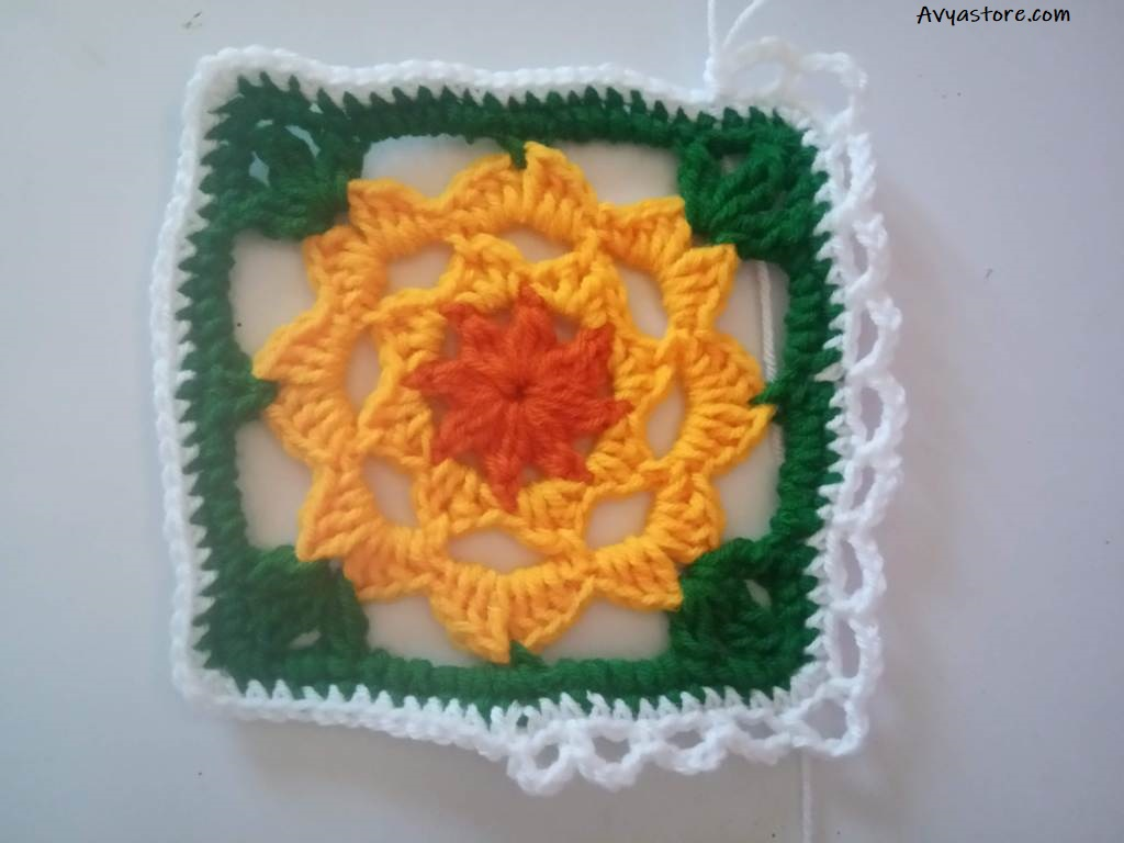 How to crochet a plum blossom granny square (25)
