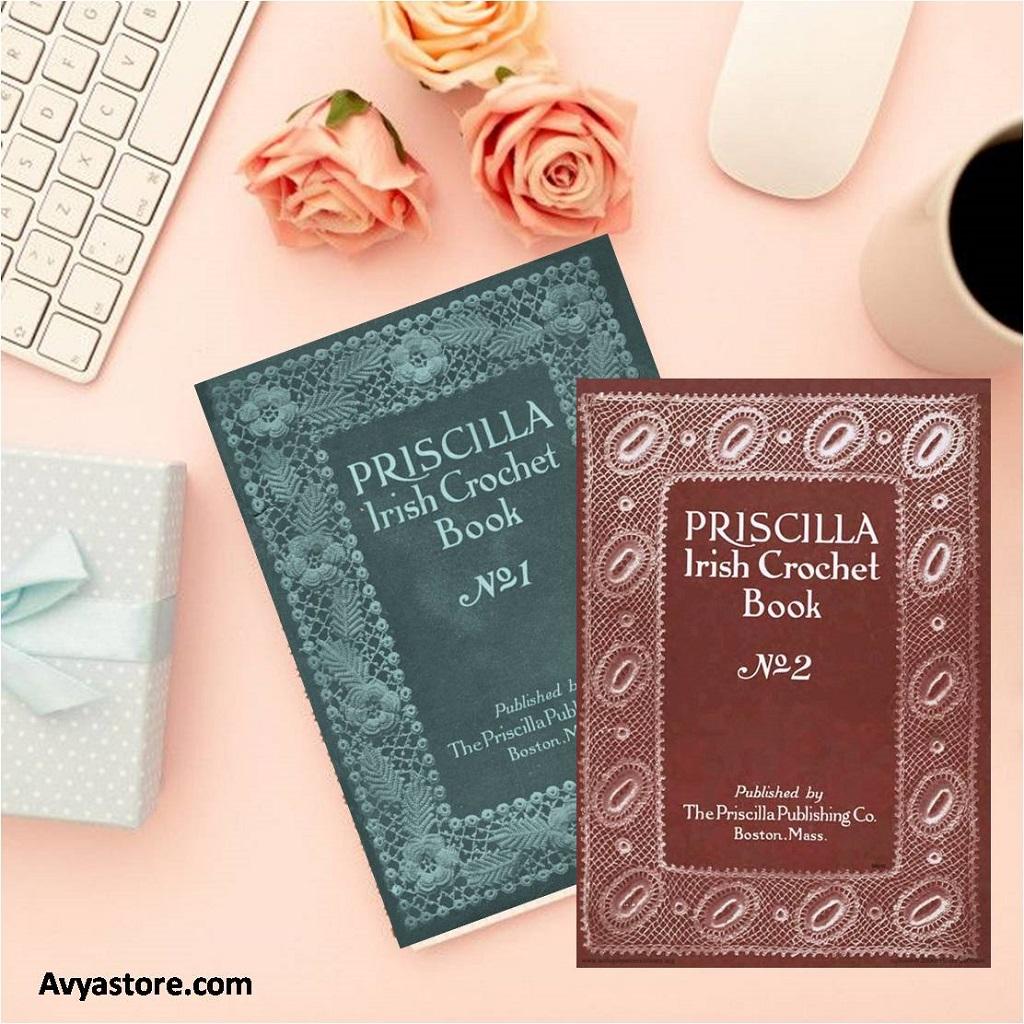 Crochet Book Review – Priscilla Irish Crochet Book 1 & 2