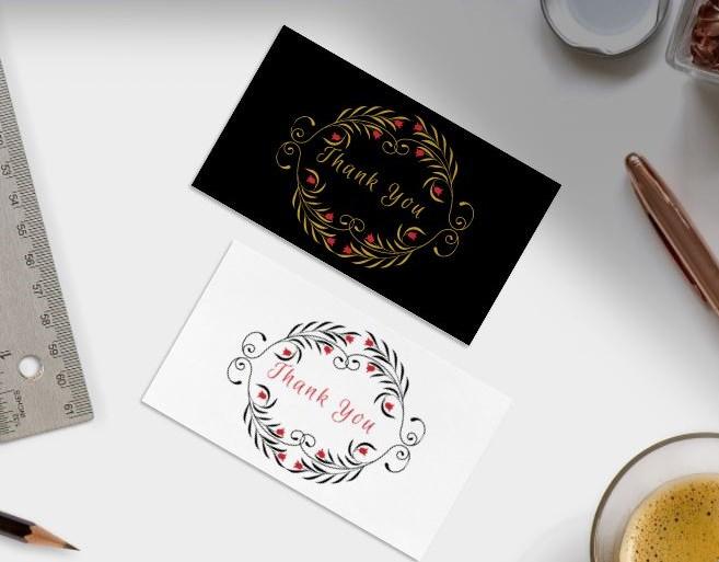 Design 1 - Thank You Cards Free Printable